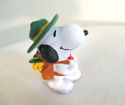 Vintage Applause Peanuts Snoopy and Woodstock Backpacking/Hiking Figure
