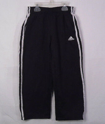 adidas Boy's Athletic Sweat Pants Climawarm Black Size  M 10/12 100% Polyester