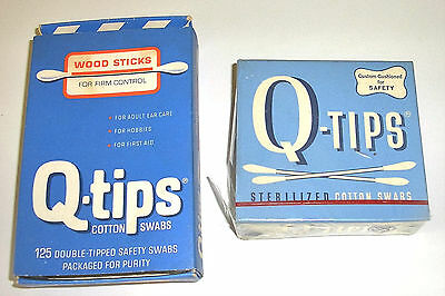 2 Lot Vintage Wood Sticks Q-Tips Cotton Swabs 300 Count NOS NEW NIB