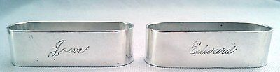 Handsome Pair Sterling Silver Napkin Rings by CLEMENS FRIEDELL
