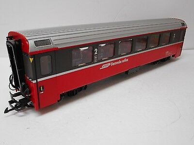 LGB 31510 RhB Swiss  2nd Coach w/Metal Wheels & Lighted G Scale