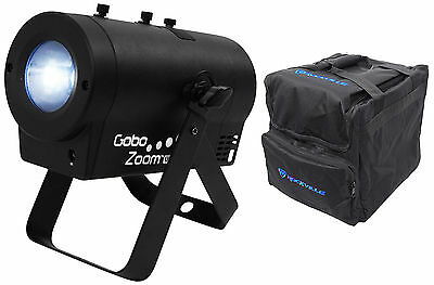 Chauvet DJ Gobo Zoom USB Compact Custom Gobo Projector Light W/10 Gobos+Bag