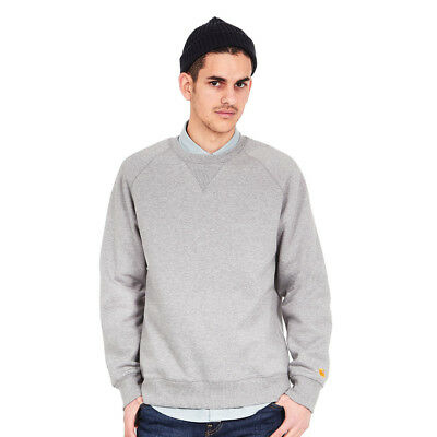 Carhartt WIP - Chase Sweater Grey Heather / Gold Pullover Rundhals