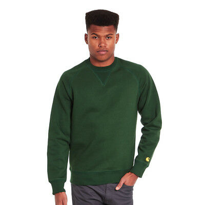 Carhartt WIP - Chase Sweater Fir / Gold Pullover Rundhals