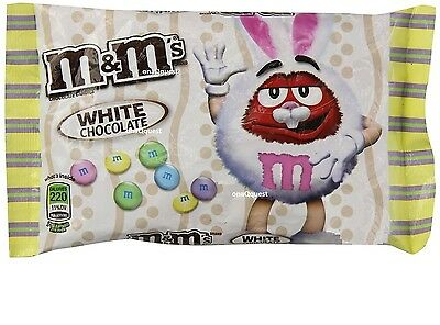 M&M's WHITE CHOCOLATE Easter candy LIMITED 8oz 226.8g M&M limited seasonal m&ms