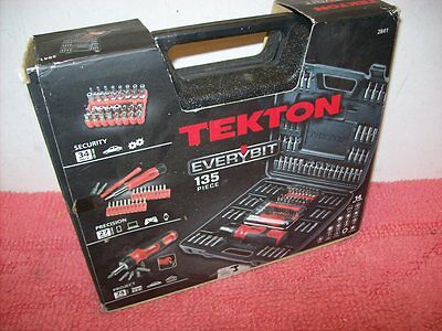 TEKTON Everybit and Electronic Repair Screwdriver Bit Set 2841, 135-Piece, New