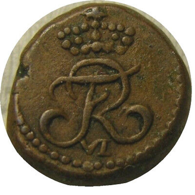 elf India Danish Tranquebar 4 Cash 1816  Frederick VI