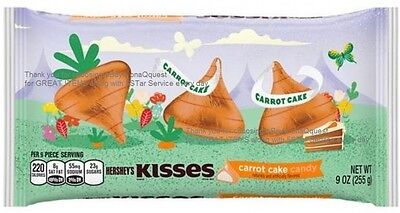 CARROT CAKE Hershey Kisses 9oz creme filled white kiss Easter chocolate candy
