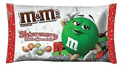 M&M's WHITE CHOCOLATE SHIMMERY candy Limited Seasonal 8oz BB9/2017 M&Ms