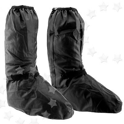 Motorbike Shoe Boot Cover Waterproof Bike Shoe Rain Protect Black 42-44