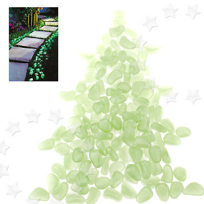 New Garden Outdoor Fish Tank Decoration Luminous Resin Pebbles Stones 100pcs