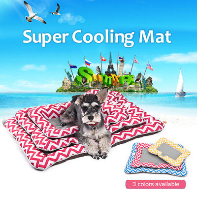 Pet Dog Summer Cooling Mat Cat Ice Mesh Indoor/Outdoor Oxford Chilly Bed Pad SML