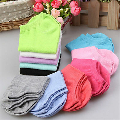 Low Cut 10 Pairs women Boat Short Cotton New Women Ankle Socks Gift Pink Blue