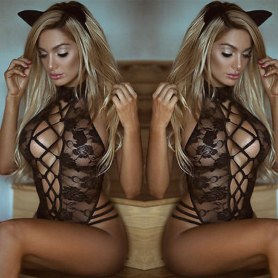 Sexy-Women's Lace Lingerie Nightwear Underwear G-string Babydoll Sleepwear Dress
