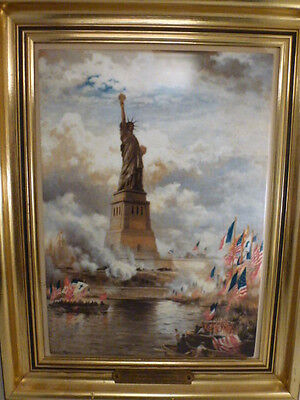 Bing & Grondahl   Statue of Liberty Collector Plaque,   LE   1006 / 2500 framed