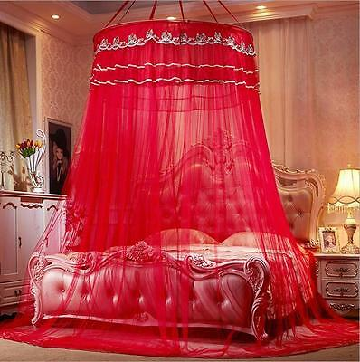 Princess Lace Bed Mosquito Netting Canopy For Single Double King Size