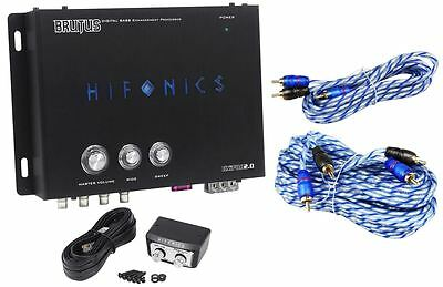 Hifonics BXIPRO2.0 Digital Bass Processor w/ Remote + 17' & 6' RCA Cables