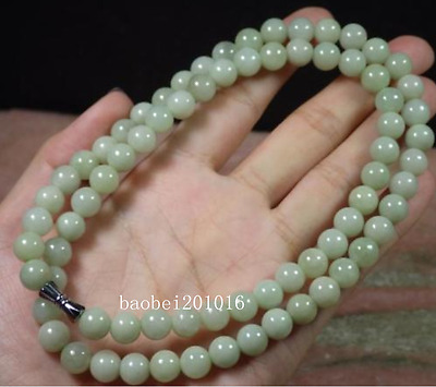 Green Yellow 100% Natural A JADE JADEITE Bead Beads Necklace 8 mm 1PC