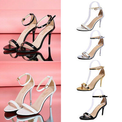Women Ladies Summer High Heel Shoes Sandals Peep Toe Buckle Sandals Bridal AU2-5
