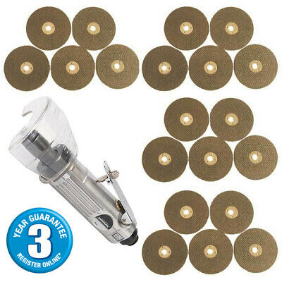 "3"" Air Cut Off Tool Grinder Cutter Tools + 20 Cutting Discs 3Yr Warranty"