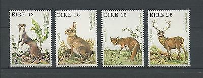IRLANDE - 1980 YT 424 à 427 ANIMAUX SAUVAGES - TIMBRES NEUFS** MNH