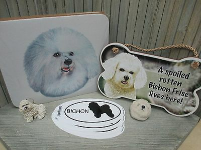 Bichon Frise - Mousepad, Magnet, Stickers, Ornament, Sign