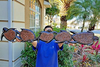 "38"" x 5.5"" HANDCHISELED WOOD GORGEOUS DESIGN TURTLE DECOR W/ WALL HANGER!"