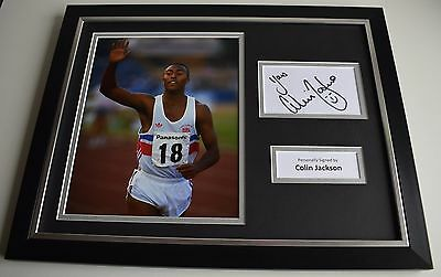 Colin Jackson SIGNED FRAMED Photo Autograph 16x12 display Olympic Hurdles COA
