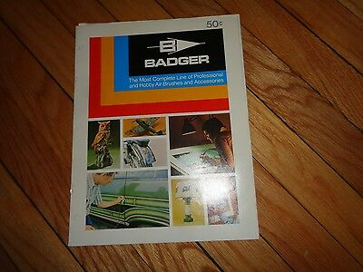 Badger Air Brush Catalog Vintage Accessories