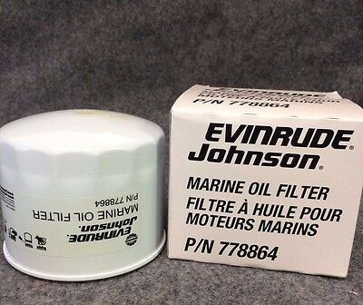New EVINRUDE JOHNSON Marine Oil Filter, 778864