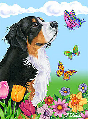 Large Indoor/Outdoor Butterfly (TP) Flag - Bernese Mountain Dog 98051