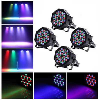 4x RGB 18 LED Strobe Stage Light DMX-512 PAR Disco DJ Party Wedding Bar 18W