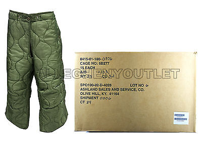 US Military M65 Field Trouser Pant Liner Field Pants For Cold Weather LARGE NWT