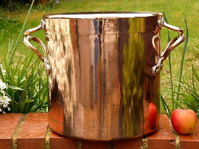 EARLY 19th CENTURY 5 GAL COPPER KITCHEN STOCK POT with hand cut DOVETAILED SEAMS