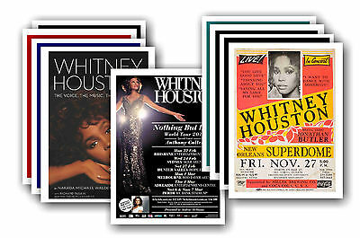 WHITNEY HOUSTON  - 10 promotional posters - collectable postcard set # 1