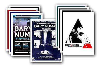 GARY NUMAN  - 10 promotional posters - collectable postcard set # 2
