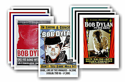 BOB DYLAN  - 10 promotional posters - collectable postcard set # 3
