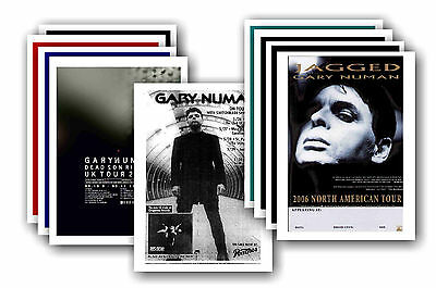 GARY NUMAN  - 10 promotional posters - collectable postcard set # 3