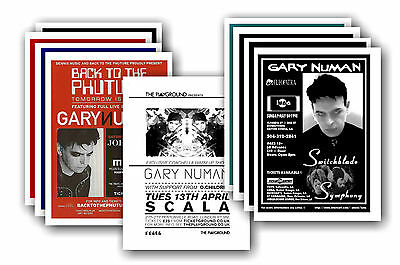 GARY NUMAN  - 10 promotional posters - collectable postcard set # 4