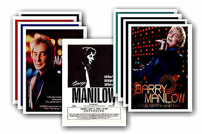 BARRY MANILOW  - 10 promotional posters - collectable postcard set # 2