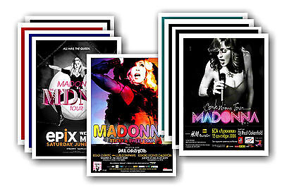 MADONNA  - 10 promotional posters - collectable postcard set # 1