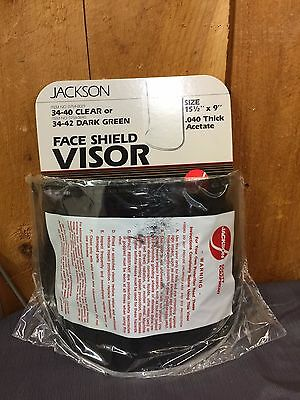 "12 Jackson Dark Green Face Shield Visors 15 1/2"" x 9"""