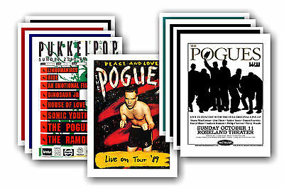 THE POGUES - 10 promotional posters - collectable postcard set # 1