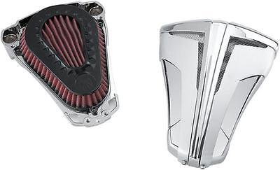 Ciro Cipher Air Cleaners Chrome with Silver Blades #35101 Harley Davidson