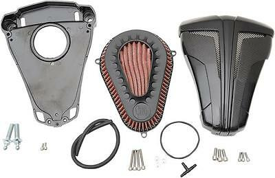 Ciro Cipher Air Cleaners Black with Black Blades #35102 Harley Davidson