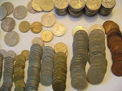AUSTRALIA Coins 4 Pounds Mixed Lot 65.22 Face Value
