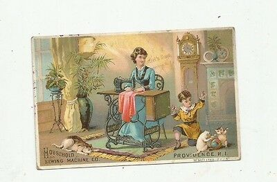 Household Sewing Machine Providence RI Trade Card Saugerties NY Butzel Grocers