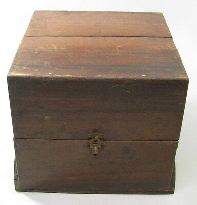 Antique Ships Chronometer Wooden Box Outer Case Parts