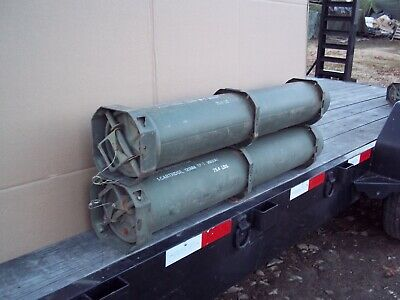 2..military Surplus 120Mm Ammo Tube Can Bury Guns Amo Rifle Money Valuables Army