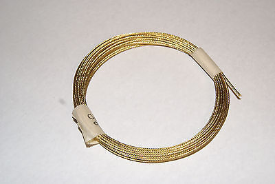Brass Cable 3/64 For Wall & Shelf 15 Ft Coil  Clocks  New Clock Parts